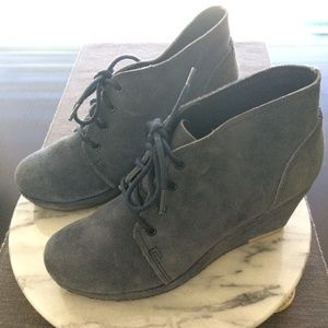 Blue suede shoes - Clarks wedges 6.5
